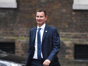 Health Secretary Jeremy Hunt arriving in Downing Street