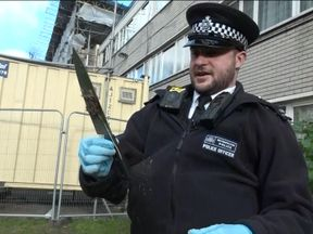 This knife was hidden on a south London estate