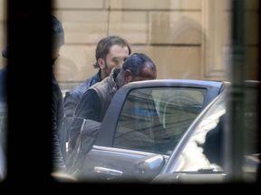 Italian Police arrest Carmine Spada, the chief of the clan. Pic: Massimo Percossi/EPA-EFE/Rex/Shutterstock