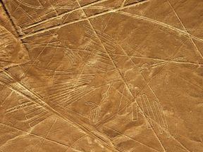 Geoglyphs can be seen only from atop the surrounding foothills or from aircraft