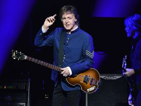 Paul McCartney performs in concert at American Airlines Arena on July 7, 2017 in Miami, Florida