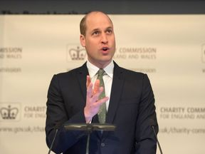 The Duke of Cambridge talks to the Charity Commission
