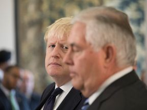 Boris Johnson held talks with US Secretary of State Rex Tillerson