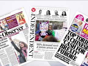 Sunday's newspaper front pages with Sky News