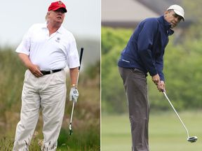 Both men are keen golfers - but don't count on them pairing up anytime soon