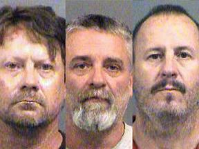 The three men are charged with conspiracy to use a weapon of mass destruction.