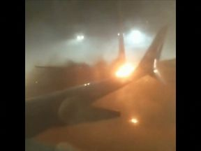 Two planes collided on the ground at Toronto's Pearson International Airport. Pic: Instagram/stephen_belford