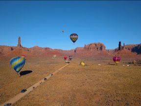 Hot air balloons at the Bears Ears National Monument in Utah