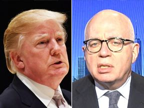 Donald Trump and Michael Wolff