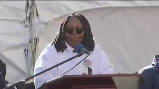 Whoppi Goldberg speaks at the Women's March