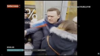 Video footage shows Alexei Navalny being arrested by Russian authorities in Moscow