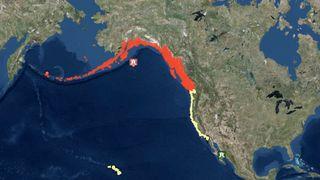 Tsunami warning. Pic: Tsunami.gov