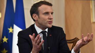 Emmanuel Macron speaks to the BBC's Andrew Marr