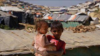 Hundreds of thousands, including children, fled conflict