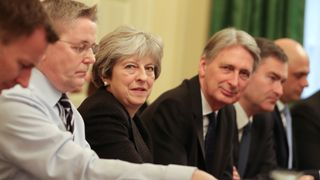 Theresa May leads her first cabinet meeting of the new year following a reshuffle at 10 Downing Street