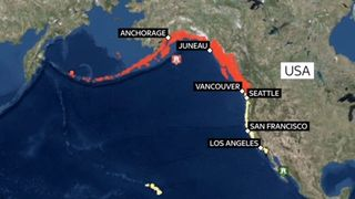 The entirety of the US west coast is on tsunami watch