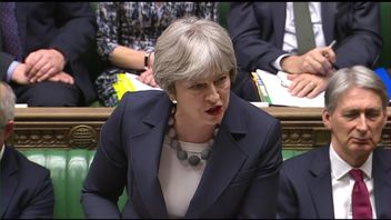 Theresa May speaks about the NHS during PMQs