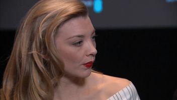 Actress Natalie Dormer talking in interview