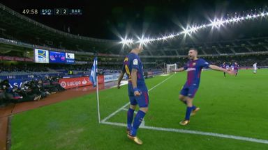 Suarez scores with clever finish
