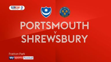 Portsmouth 0-1 Shrewsbury