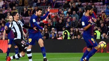Messi volleys Barca ahead
