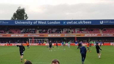 Stag stitch up at Griffin Park