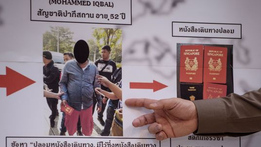 Pakistani Mohammad Iqbal was caught in Thailand