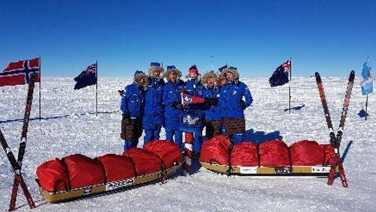 The team had to brave temperatures of minus 40C