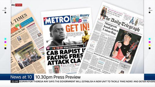Sky News looks at the latest UK headlines