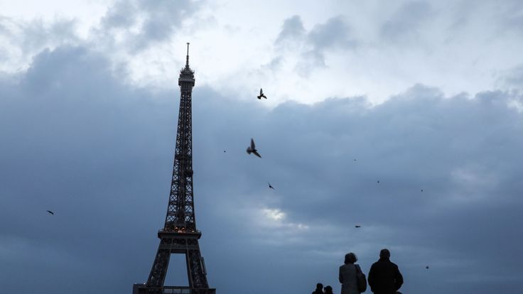 The top deck of the Eiffel Tower was closed due to winds of over 50mph