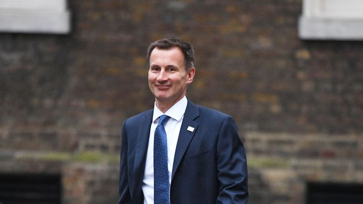 Health Secretary Jeremy Hunt arriving in Downing Street
