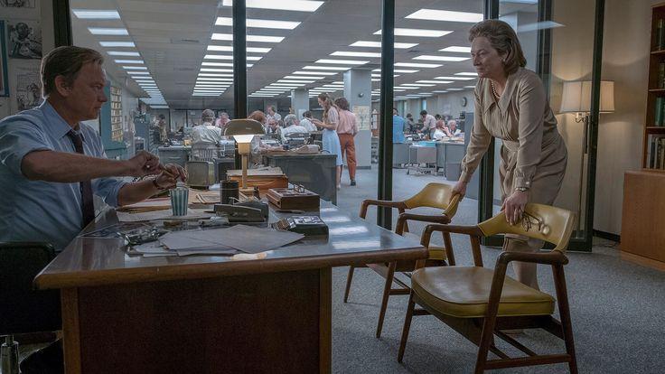 Hanks is Washington Post editor Ben Bradlee and Streep is publisher Kay Graham