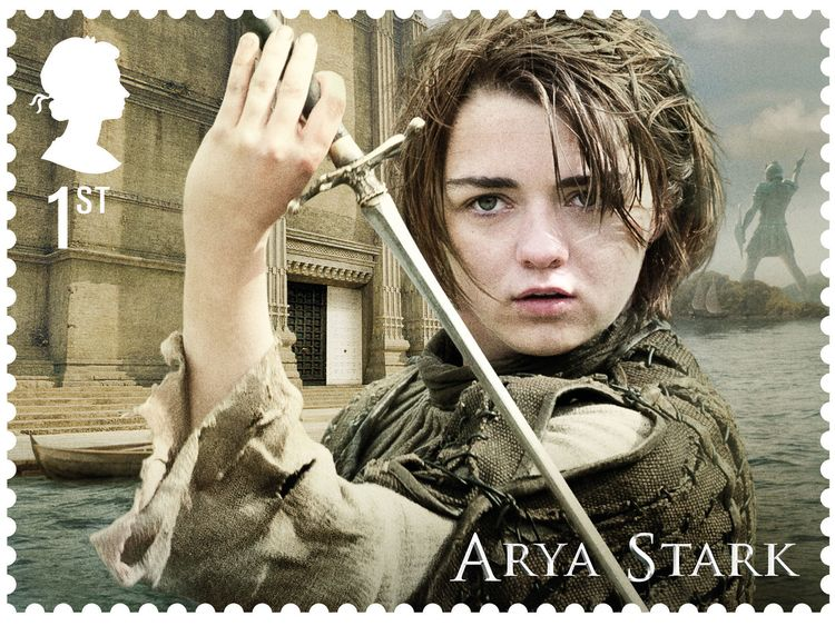 Game of Thrones stamps Arya