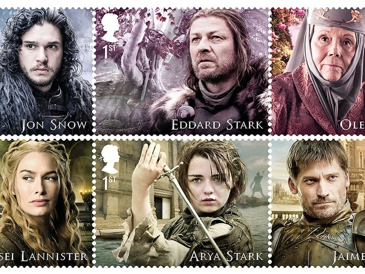 Game of Thrones stamps collage