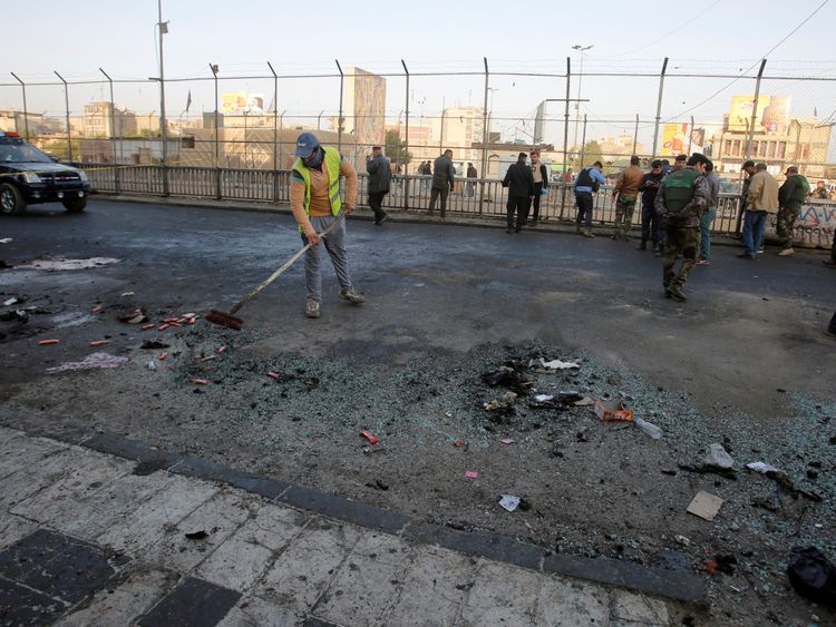 Twin bombings at Baghdad street market kill 38