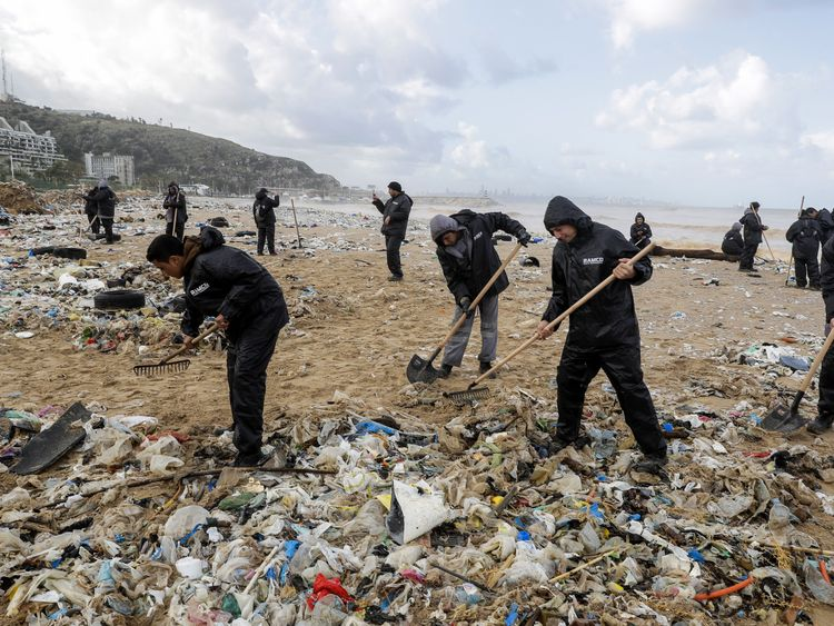 Much of Lebanon's waste is dumped in the sea