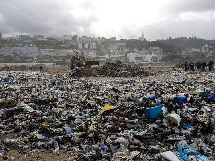 Environmentalists have started cleaning up the beach
