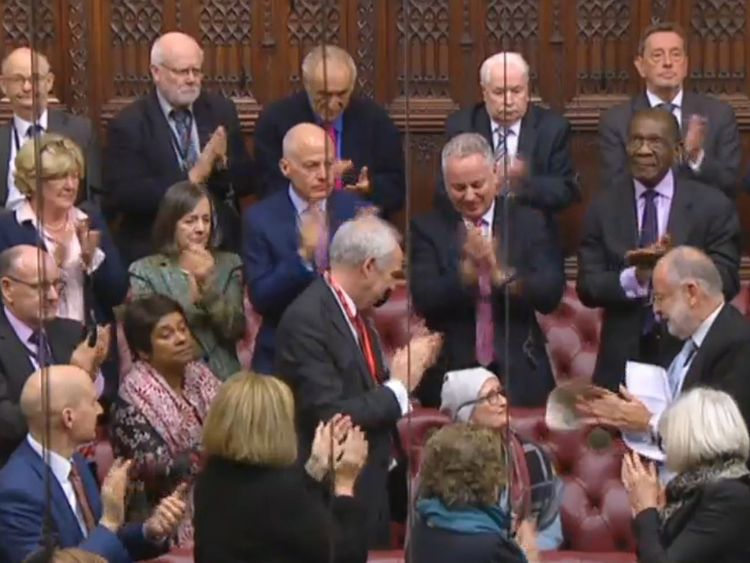 Some peers struggled to hold back tears