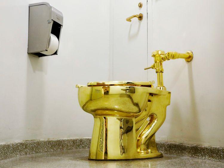 Полностью функционирующие золотой унитаз был использован более чем 100 000 посетителей