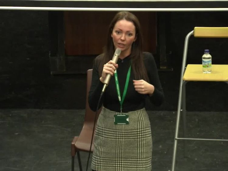 Rotherham abuse survivor Sammy Woodhouse speaking to young people at West Walsall Academy