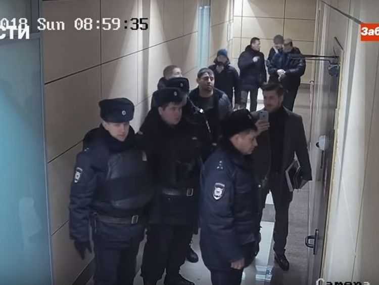 Russian police force way into opposition leader Navalny's office, opposition TV says