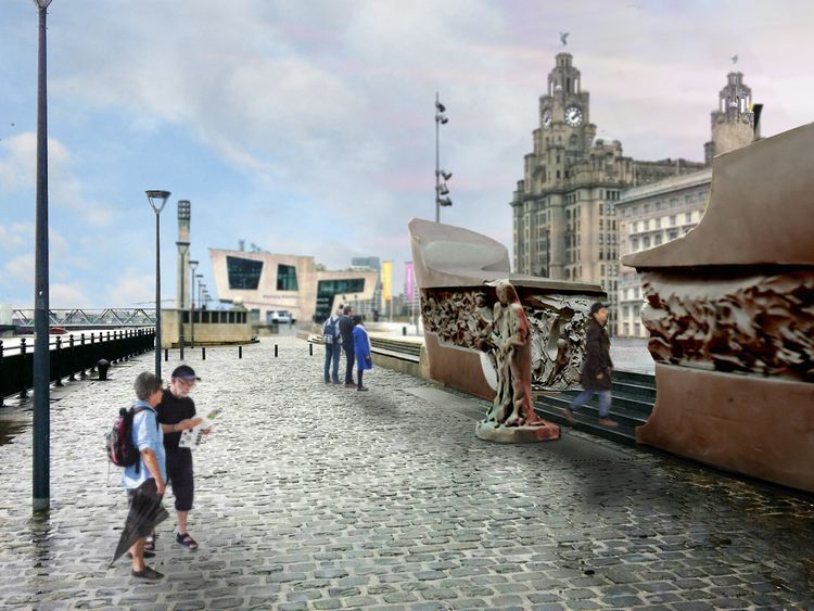 It is hoped that the Battle of the Atlantic Memorial will take pride of place on Liverpool's iconic Pier Head waterfront