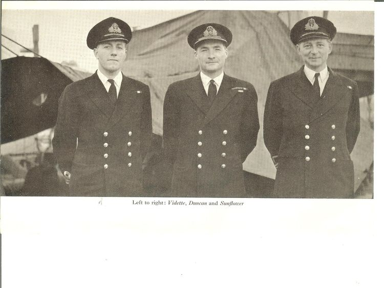 OPINION - PICS SENT IN FROM ROSE GRETTON PWG with 2 of his Atlantic CO's – shows my grandfather with two other Battle of the Atlantic commanding officers. Peter Gretton in the middle.
