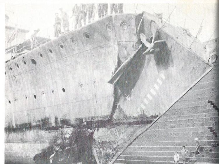 from rose gretton - this was the ship my grandfather rammed into a U-Boat in the Med trying to protect an aircraft carrier –