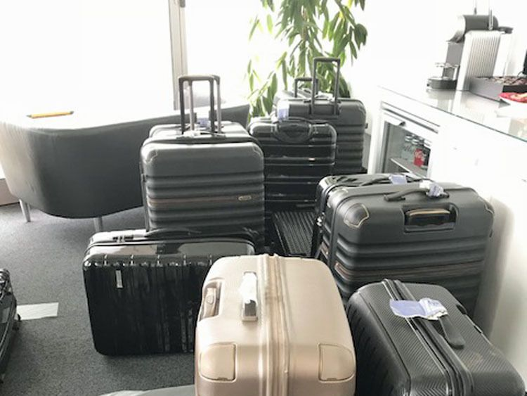 Border Force officers seized suitcases containing cocaine worth more than £50 million at Farnborough Airport