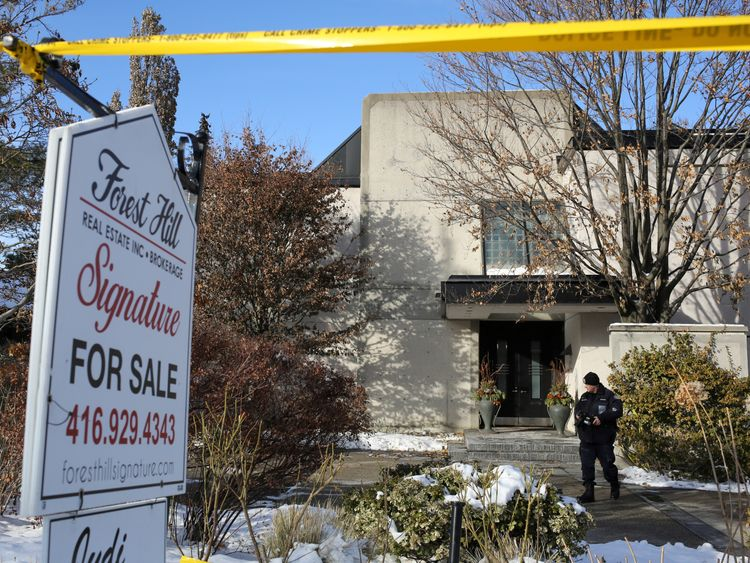 The home of billionaire couple Barry and Honey Sherman whose bodies were found in the property