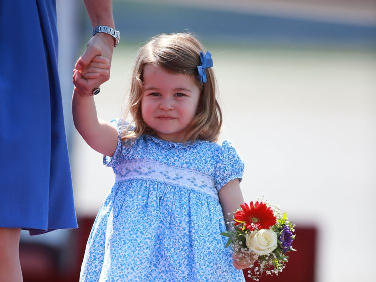 Princess Charlotte, who will attend Willcocks Nursery School