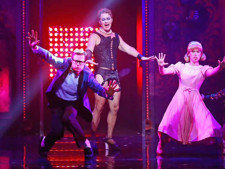 McLachlan pictured in his role as Frank N Furter in Rocky Horror Show