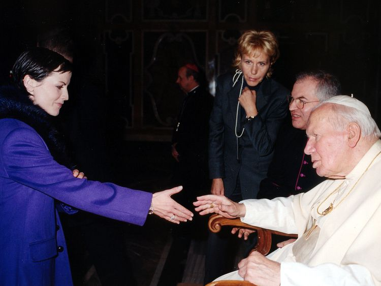 O'Riordan said playing for the Pope was the 'greatest day of her life'
