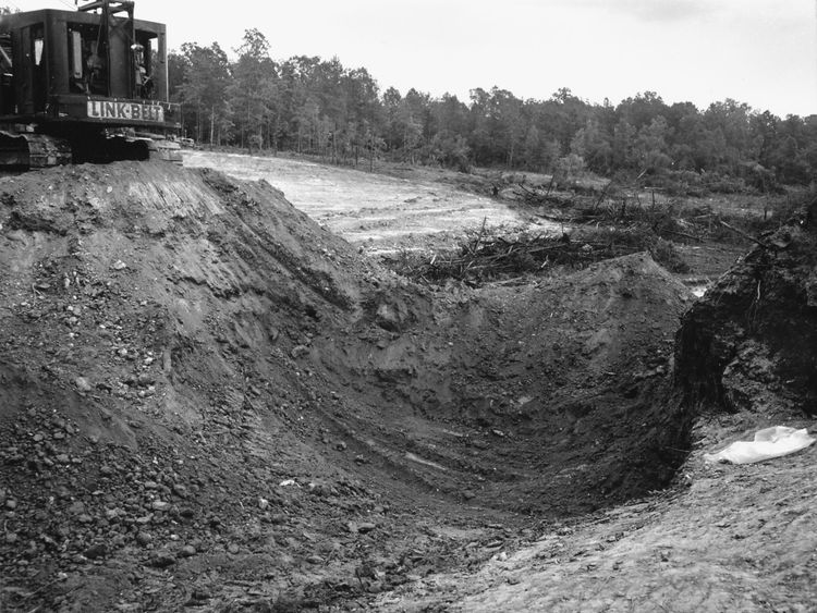The bodies were found in land nearby Philadelphia, Mississippi